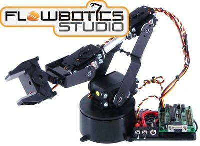 Kit Bras Robotique AL5B à 4DOF Lynxmotion SSC-32U (FlowBotics Studio)