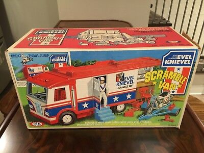 Evel Knievel Scramble Van with Box and Instructions