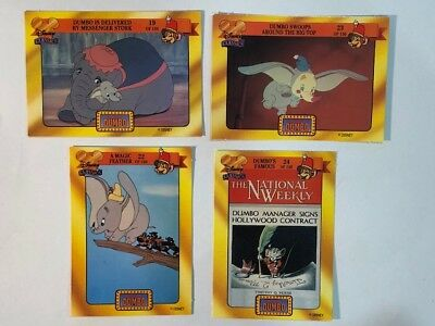 Disney Classics Walt Disney Dumbo the Elephant 90s Australian Trading Card Lot