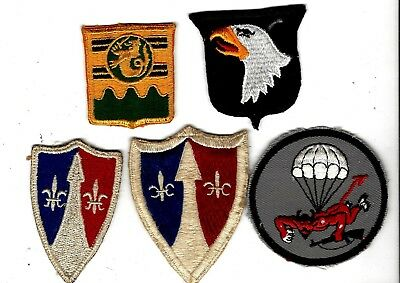 VN War era group/ lot of patches, 101st AIRBORNE- TWILL !!, unid MP, thre-mades+