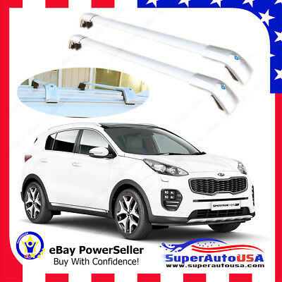 Top Roof Rack Fit 11-18 KIA SPORTAGE Silver Baggage Luggage Cross Bar Crossbar