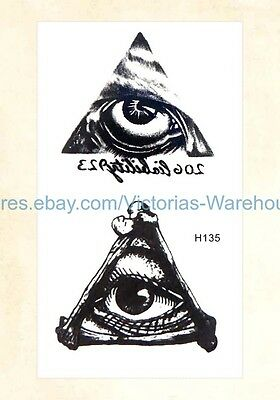 US Seller- ancient Egyptian eye of Horus temporary tattoo waterproof temporary