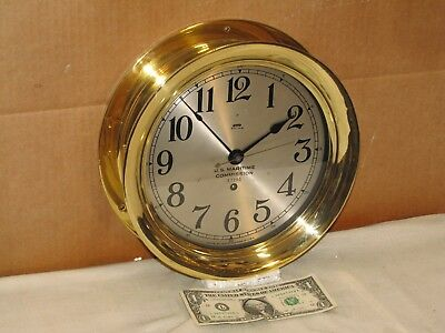 "Seth Thomas U.s. Navy Pilot House Clock ~8 1/2"" Dial~Ww2 1942~Chelsea Key"