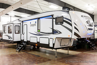 New 2019 36BHQ Mid Bunkhouse Rear Living Room 5th Fifth Wheel with Auto Level