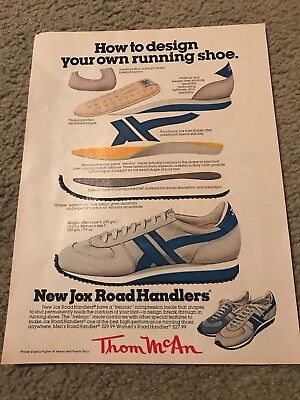 Vintage 1979 THOM MCAN NEW JOX ROAD HANDLERS Running Shoes Poster Print Ad 1970s