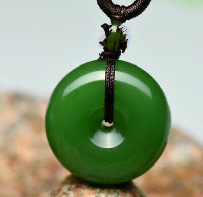 2018 new China hand-carved Green jade pingankou jade pendant Necklace Amulet