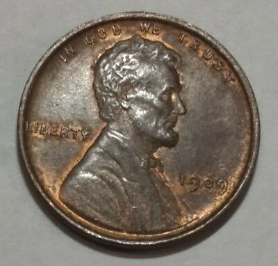 1909 VDB UNC Lincoln wheat cent. minor touches of red