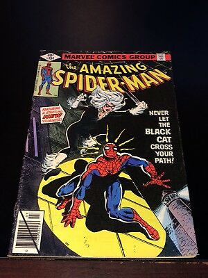 1979 AMAZING SPIDER-MAN #194 1st appearance BLACK CAT Fine+ VF- movie coming