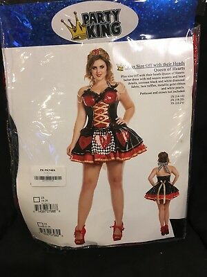 Party King Women's Off with their Heads Queen of Hearts Plus Size 1X Costume
