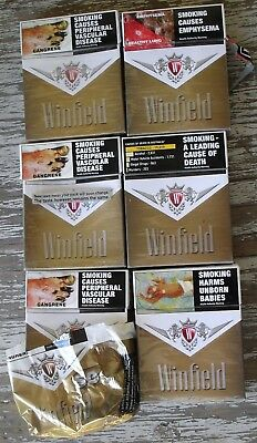 WINFIELD GOLD 25's EMPTY CIGARETTE PACKETS  NOT TINS