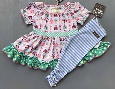 Girls 2 Matilda Jane As You Wish Tunic & Be Brave Leggings Outfit Nwt