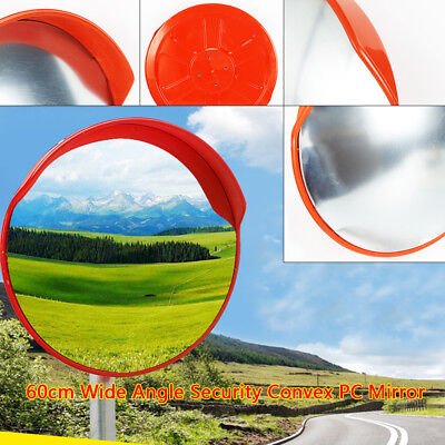 "24"" Wide Angle Security Curved Convex Road PC Mirror Traffic Driveway Safety TOP"