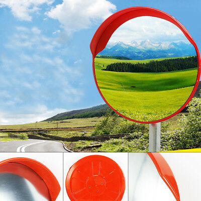 "18"" Wide Angle Security Curved Convex Road PC Mirror Traffic Driveway Safety TOP"