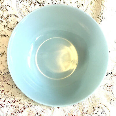 "MINTY~ Fire King OVEN WARE USA DELPHITE Turquoise Blue 8"" VEGETABLE/SERVING BOWL"