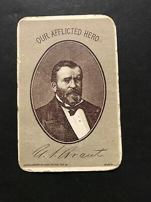 1860-70 U.S. Grant Our Afflicted Hero Advertising Large Plagues CDV