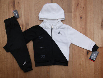 9268abb48d90b6 Air Jordan Baby Boy 2 Piece Hooded Jogging Set~Tracksuit ~Black   White~
