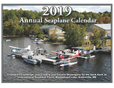 Seaplane Wall Calendar 2019 - 12 Months Plus Cover Of Unique Seaplanes