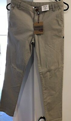 Bauhaus Boys Pants Chino Jeans Youth Size 12 *brand New