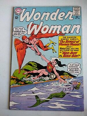1964 #144 DC WONDER WOMAN UNREAD COMICS SUPER COLORS 12¢ wonder girl boy-friends