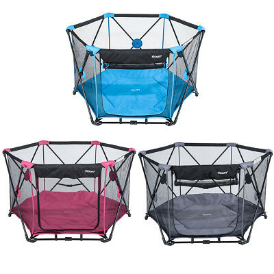 Abon Folding Portable Playpens Baby Play Yard w/ Pad & Travel Bag Indoor Outdoor