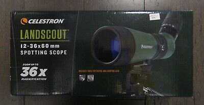 CELESTRON LANDSCOUT 12-36x60mm SPOTTING SCOPE INCLUDES TABLE TOP TRIPOD AND CASE