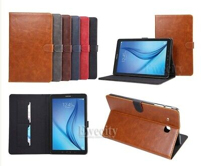 Folio Wallet Stand Leather Card Case Cover For Samsung Galaxy Tab E 8.0''/9.6''
