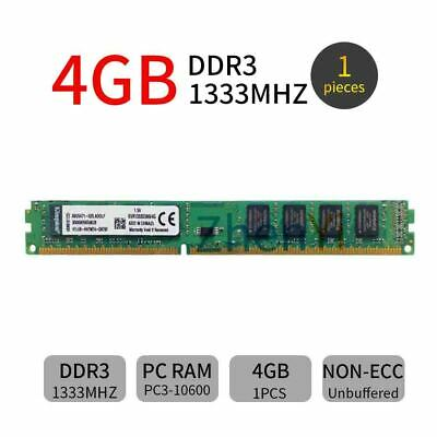4GB PC3-10600 DDR3 1333MHz CL9 KVR1333D3N9/4G Desktop Intel Memory For Kingston