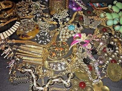 "Vintage Now Estate Find Jewelry Lot, ""JUNK DRAWER"" Unsearched Untested"