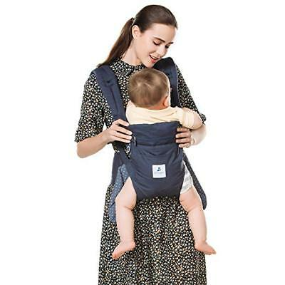 Kinmbra New Design Baby Carrier with Hip seat for infant & Toddlers (Light Blue)