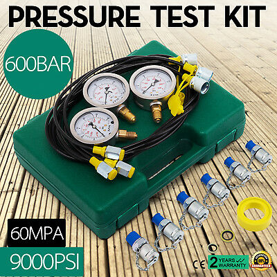 Hydraulic Pressure Test Kit for Excavator Portable Hydraulic Tester φ60mm