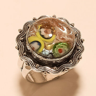 Natural Egyptian Peridot Gemstone Silver Tone Antique Jewelry Thank Giving Ring