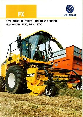 F-Brochure Tracteur Ensileuse New Holland Fx