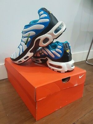 Mens Nike Tn Shoes White With Blue, Green, Size (US 11)