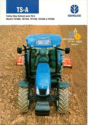 IT(italien)-BROCHURE TRACTEUR NEW HOLLAND TS-A