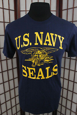 US Navy SEALs T Shirt Sz Medium Navy Blue NSW SPECWAR USN SEAL Special  Operation f4eb3552250