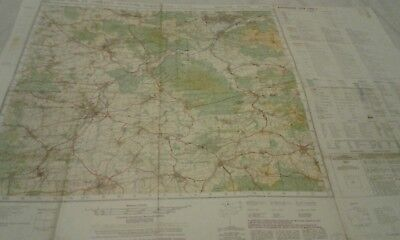 BAD PYRMONT germany army exercise map 1982 .. LUNEBURG reverse
