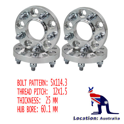 4PCS 25mm Hubcentric Wheel Spacer For Toyota AVALON CAMARY SIENNA TACOMA 5 Studs