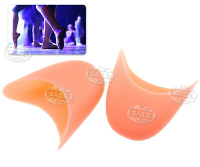 2x Ladies Girls Silicone Gel Toe Pads for Satin Ballet Pointe Shoes Nude Pink