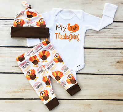 6696a224c NWT CARTERS INFANT Baby Girl Boy My 1st Thanksgiving Turkey Bib ...