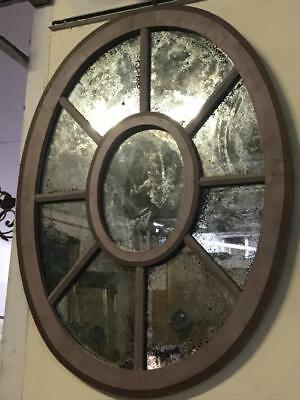 Lovely Old Window Framed Mirror..with Distressed Finish