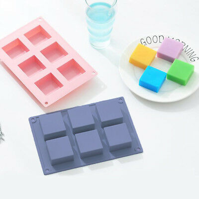 6 Cavity plain basic rectangle silicone mould for homemade craft soap mold HT
