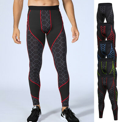 Men's Compression Legging Running Gym Pants Workout Fitness Cool Dry Base layer