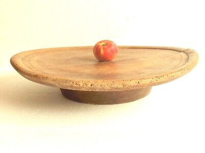 1800's ANTIQUE Ottoman Turkish Low Round PRIMITIVE Dining Wooden Rustic Table./2