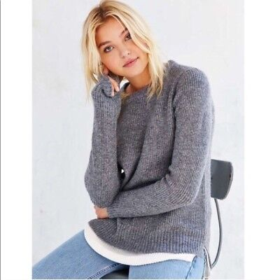 Unif X Urban Outfitters Gray Womens Layered Knit Sweater Size L