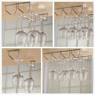 Iron Plating Bronze Wall Mount Stemware Hanging Wine Glass Rack Holder Shelf