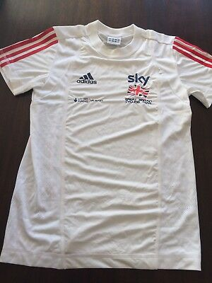 SKY Great Britain Cycling Team Youths T-shirt Adidas. Small. 32/34