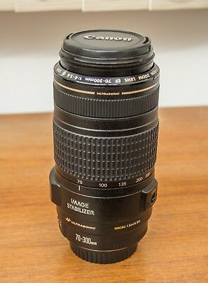 Canon EF 70-300mm F/4-5.6 IS USM Lens - Very Good Condition