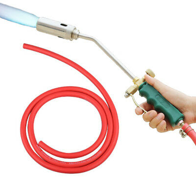 35mm Dual Switches Stainless Steel Spray Gun Nozzle Propane Torch Head Liquid