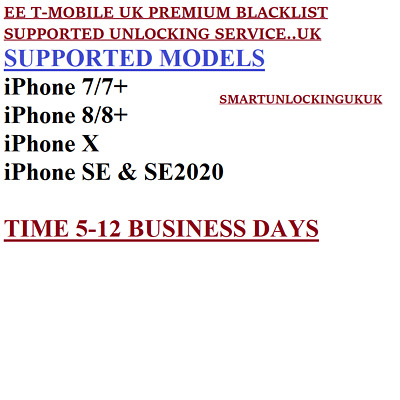 EE iPHONE X 8/7/6/5/4 7 PLUS 8 PLUS 6 PLUS UNLOCKING SERVICE FAST