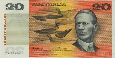 1976 $20 Note Gothic Serial Centre Thread Knight/Wheeler R406A about UNC